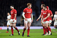 Rhys Patchell of Wales looks on during a break in play. Natwest 6 Nations match between England and Wales on February 10, 2018 at Twickenham Stadium in London, England. Photo by: Patrick Khachfe / Onside Images