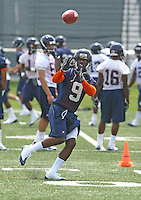 Virginia wide receiver Javaris Brown during open spring practice for the Virginia Cavaliers football team August 7, 2009 at the University of Virginia in Charlottesville, VA. Photo/Andrew Shurtleff