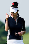HAIKOU, CHINA - OCTOBER 30:  Catherine Zeta-Jones gestures on the 9th hole during day four of the Mission Hills Start Trophy tournament at Mission Hills Resort on October 30, 2010 in Haikou, China. The Mission Hills Star Trophy is Asia's leading leisure liflestyle event and features Hollywood celebrities and international golf stars. Photo by Victor Fraile / The Power of Sport Images