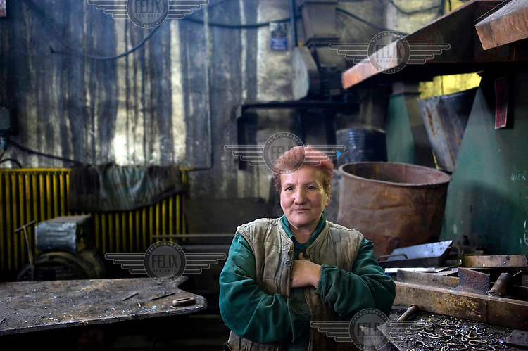 53 year old Elena Bancila has worked for 34 years at the Petrila mine. She currently works as a welder.