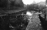 Il naviglio di Paderno d'Adda. Chiusa --- The naviglio canal of Paderno d'Adda. Lock