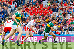 Brian Ó Beaglaoich, Kerry in action against Colm Cavanagh, Tyrone during the All Ireland Senior Football Semi Final between Kerry and Tyrone at Croke Park, Dublin on Sunday.
