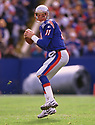 New England Patriots Drew Bledsoe (11) during a game from his 1998 season with the New England Patriots. Drew Bledsoe played for 14 years with 3 different teams and was a 4-time Pro Bowler.(SPORTPICS)
