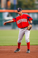 July 28, 2009:  Shortstop Ivan Ochoa of the Pawtucket Red Sox during a game at Coca-Cola Field in Buffalo, NY.  Pawtucket is the International League Triple-A affiliate of the Boston Red Sox.  Photo By Mike Janes/Four Seam Images