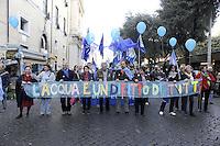 Roma, 26 Novembre 2011.Manifestazione nazionale per il rispetto dell'esito referendario sull'acqua, organizzata dal Forum italiano dei movimenti per l'acqua