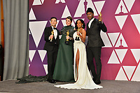 LOS ANGELES, CA. February 24, 2019: Rami Malek, Olivia Colman, Regina King &amp; Mahershala Ali at the 91st Academy Awards at the Dolby Theatre.<br /> Picture: Paul Smith/Featureflash