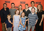 """Back row: Michael Greif, Brad Heberlee, Samantha Mathis, Susannah Flood, Kim Fischer, Bess Wohl Front row: Harrison Fox, Maren Heary, Casey Hilton, Ryan Foust during the Second Stage Theater's """"Make Believe"""" cast photo call at the Hudson Theatre Theatre on July 23, 2019 in New York City."""