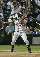 July 17, 2004:  Luis Lopez of the Richmond Braves, Triple-A International League affiliate of the Atlanta Braves, during a game at Frontier Field in Rochester, NY.  Photo by:  Mike Janes/Four Seam Images