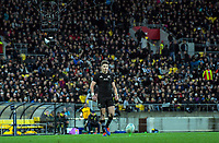 Beauden Barrett prepares to kick for goal during the Rugby Championship rugby union match between the New Zealand All Blacks and South Africa Springboks at Westpac Stadium in Wellington, New Zealand on Saturday, 27 July 2019. Photo: Dave Lintott / lintottphoto.co.nz