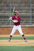 Conor Quinn (3) of the Harvard Crimson at bat against the Wake Forest Demon Deacons at David F. Couch Ballpark on March 5, 2016 in Winston-Salem, North Carolina.  The Crimson defeated the Demon Deacons 6-3.  (Brian Westerholt/Four Seam Images)