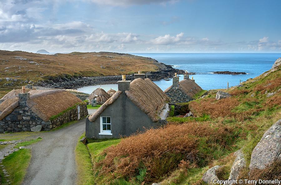 Isle of Lewis, Scotland:<br /> Garenin Blackhouse Village, a restored crofting village