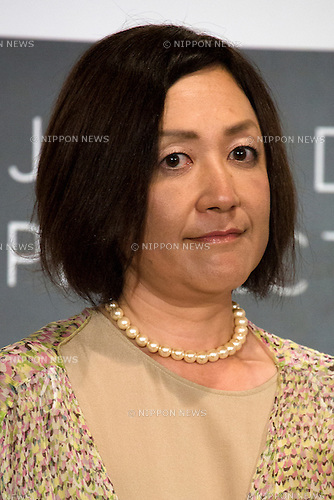 Mika Morishita, branding manager of the Japan Day Project (JDP) attends a press conference at the Foreign Correspondents' Club of Japan on May 7, 2015, Tokyo, Japan. The JDP is an initiative to promote Japanese culture (anime, manga, movies, music and other creative media) at the most distinguished entertainment festivals around the world. The Japan Day will be starting during the Cannes Film Festival in France on May 2015. (Photo by Rodrigo Reyes Marin/AFLO)