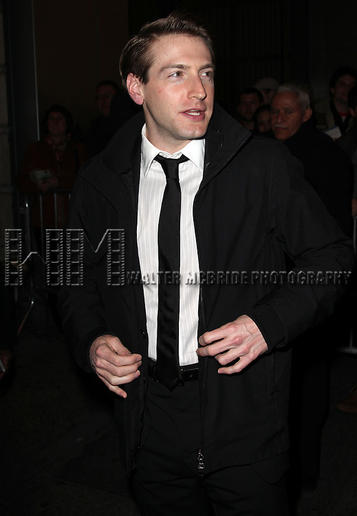 "Fran Kranz.leaving the Stage Door after the  Opening Night Performance of ""Death Of A Salesman"" at The Barrymore Theatre New York City on 3/15/2012."
