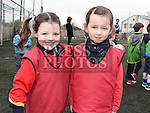 Abagail Kerins and Rhea Shrestha who took part in the St Mary's GAA Club Academy for 4-7 year olds. Photo:Colin Bell/pressphotos.ie