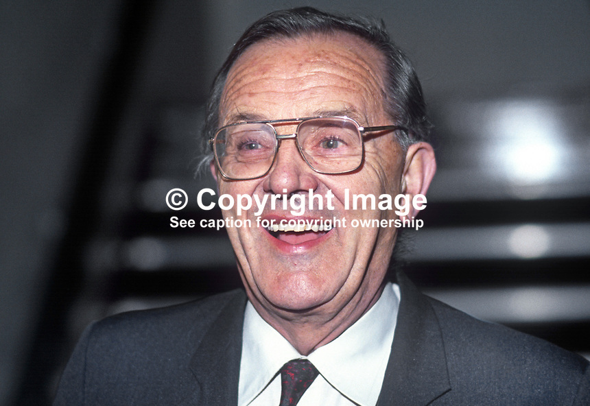 Merlyn Rees, MP, Labour Party, UK, 19901002004.<br />