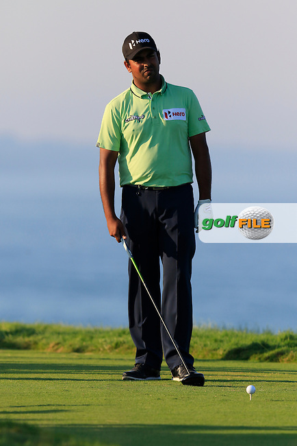 Anirban Lahiri (IND) on the 16th tee during Saturday's Round 3 of the 97th US PGA Championship 2015 held at Whistling Straits, Mosel, Kohler, Wisconsin, United States of America. 15/08/2015.<br /> Picture Eoin Clarke, www.golffile.ie