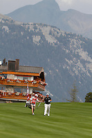 Shane Lowry (IRL) on the 10th on the 1st day of the Omega European Masters, Crans-Sur-Sierre, Crans Montana, Switzerland..Picture: Golffile/Fran Caffrey..