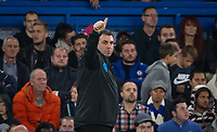 Everton Caretaker Manager David Unsworth gives a thumb up during the Carabao Cup round of 16 match between Chelsea and Everton at Stamford Bridge, London, England on 25 October 2017. Photo by Andy Rowland.