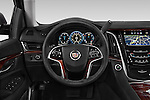 Car pictures of steering wheel view of a 2015 Cadillac Escalade Premium 5 Door SUV 2WD Steering Wheel