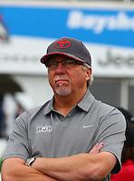 Apr 26, 2015; Baytown, TX, USA; NHRA team owner Alan Johnson during the Spring Nationals at Royal Purple Raceway. Mandatory Credit: Mark J. Rebilas-