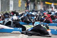 SAO PAULO, 06 DE MAIO DE 2012. TROFEU BRASIL DE TRIATHLON. Mochila dos atletas durante A segunda etapa do 22 Trofeu Brasil de Triathlon que aconteceu neste domingo na USP. FOTO: ADRIANA SPACA - BRAZIL PHOTO PRESS.