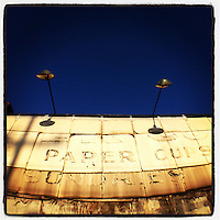 The sun shines on the Comer Paper Company on Germantown Avenue in Philadelphia, January 24, 2013.