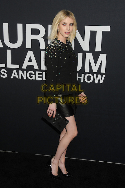 10 February 2016 - Los Angeles, California - Emma Roberts. Saint Laurent At The Palladium held at the Hollywood Palladium. <br /> CAP/ADM/BP<br /> &copy;BP/ADM/Capital Pictures