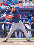 8 March 2015: Boston Red Sox catcher Luke Montz in Spring Training action against the New York Mets at Tradition Field in Port St. Lucie, Florida. The Mets fell to the Red Sox 6-3 in Grapefruit League play. Mandatory Credit: Ed Wolfstein Photo *** RAW (NEF) Image File Available ***