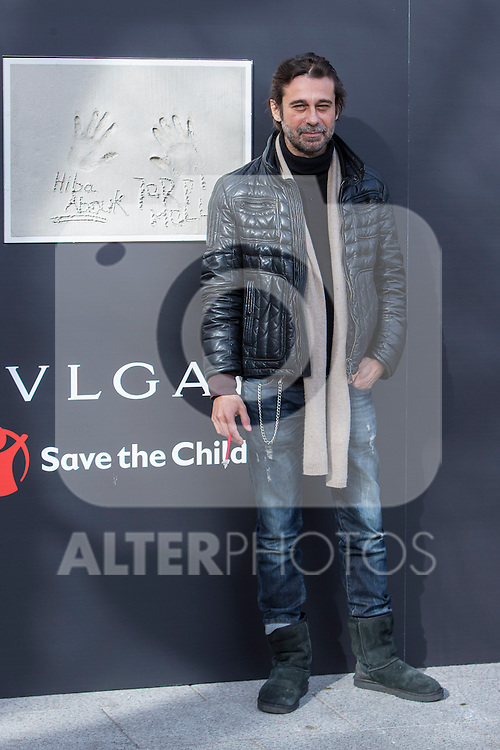 The ambassador of Bvlgari-Save the Children, Jordi Molla, visits for the new center for children at risk of social exclusion of Save the Children in the district of Vallecas, in Madrid, financed by Bvlgari, January 03 2017. (ALTERPHOTOS/Rodrigo Jimenez)