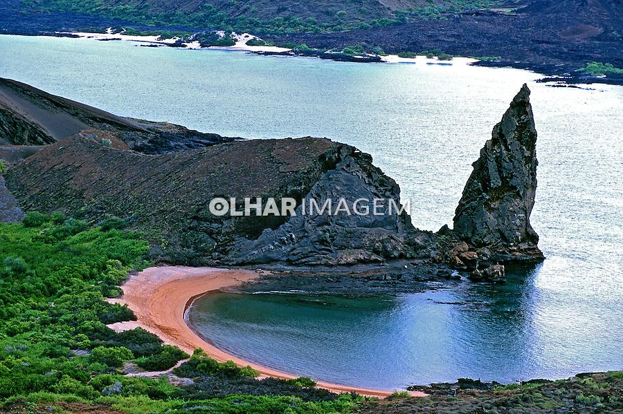 Rochas vulcânicas do arquipélago de Galápagos. Equador. Foto de Juca Martins.<br /> Data: 1998