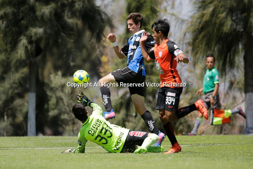 Querétaro, Qro. 18 marzo 2017.- El euipo Sub 20 de los Gallos de Querétaro vencieron por tres goles a cero al conjunto de Pachuca en eun partido correspondiente a la Jornada 11 del Torneo Clausura 2017 de la Liga BBVA Bancomer Mx