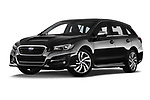 Stock pictures of low aggressive front three quarter view of a 2018 Subaru Levorg GTS Premium 5 Door Wagon
