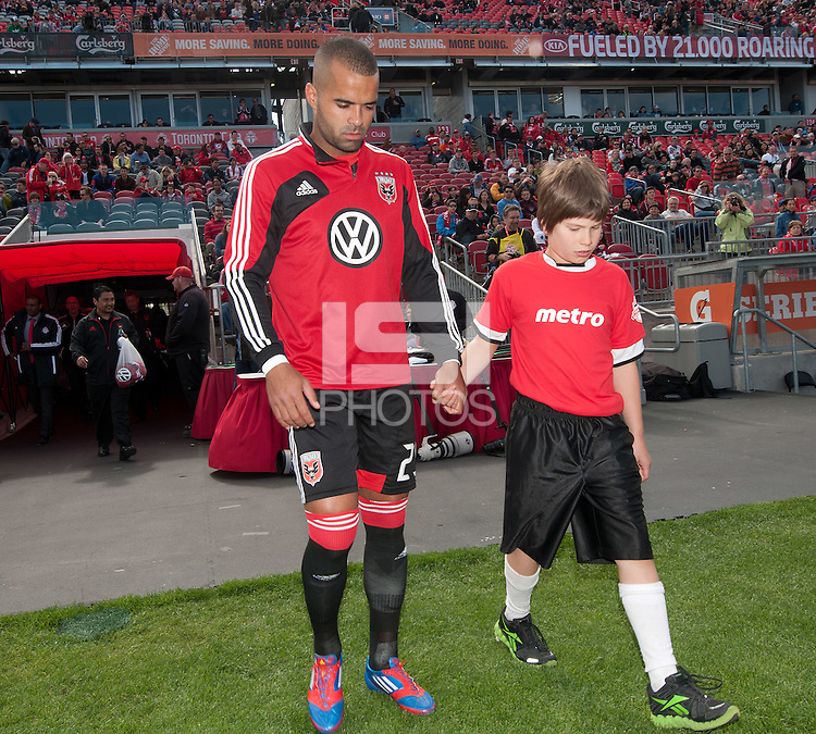 05 May 2012: D.C. United forward Maicon Santos #29 takes to the pitch during the opening ceremonies in an MLS game between DC United and Toronto FC at BMO Field in Toronto..D.C. United won 2-0.