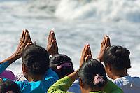 Hindu Ceremony Lembeng Beach,Bali Indonesia