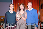 Pictured at the launch of Maura Nolan's new CD 'Am le Cheile' in the Top of the Town Bar, Athea on Friday night were Diarmuid O'Brien, Maura Nolan and Donie Nolan.