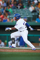 South Bend Cubs outfielder Kevin Encarnacion (32) at bat during a game against the Cedar Rapids Kernels on June 5, 2015 at Four Winds Field in South Bend, Indiana.  South Bend defeated Cedar Rapids 9-4.  (Mike Janes/Four Seam Images)