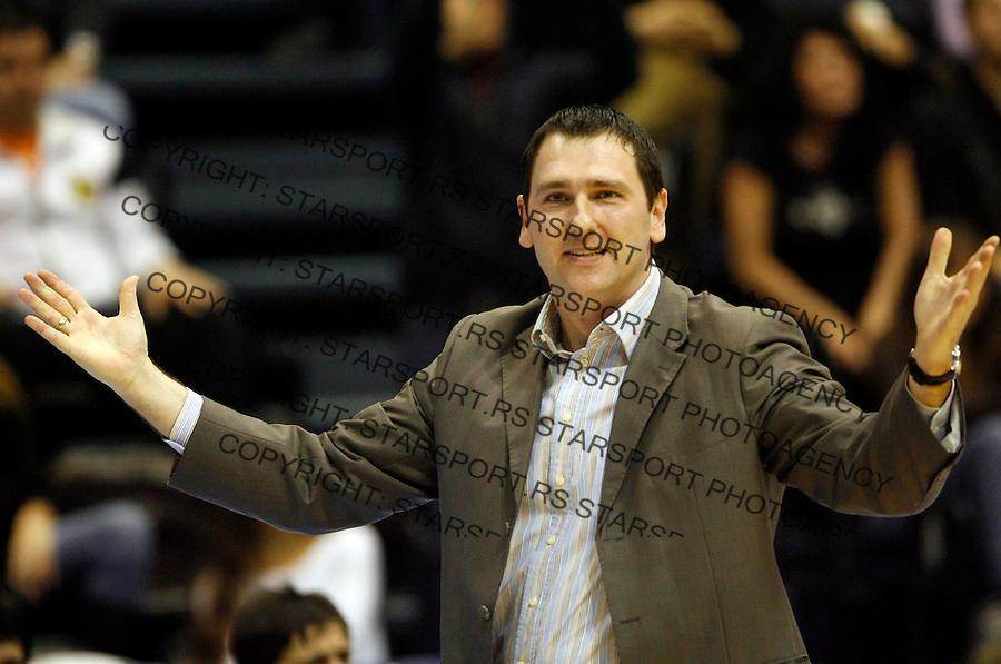 Kosarka, NLB LEAGUE, season 2006/07&amp;#xA;Partizan Vs. Cibona (Zagreb)&amp;#xA;Aleksandar Kesar, head coach&amp;#xA;Beograd, 24.12.2006.&amp;#xA;foto: Srdjan Stevanovic<br />