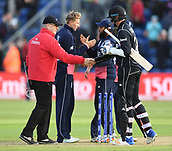 Jun 6th, The SSE SWALEC, Cardiff, Wales; ICC Champions Trophy; England versus New Zealand;  players shake hands after the match