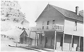 3/4 view of Placerville Hotel.<br /> Placerville, CO