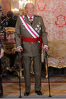 King Juan Carlos of Spain attend the traditional 'Pascua Militar' ceremony at The Royal Palace. January 06, 2013. (ALTERPHOTOS/Caro Marin)