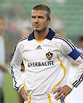 23 August 2007: Los Angeles's David Beckham, pregame. Club Deportivo Chivas defeated the Los Angeles Galaxy 3-0 in a Major League Soccer regular season match at the Home Depot Center in Carson, CA.
