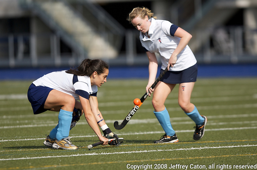 University of Toronto Varsity Blues Women's Field Hockey Team during their match on October 25, 2008 vs the University of Waterloo.