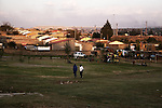Football field near Lebo's backpacker in Soweto. April 2009