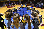 GRAND RAPIDS, MI - MARCH 18: Tufts University huddles up before the Division III Women's Basketball Championship held at Van Noord Arena on March 18, 2017 in Grand Rapids, Michigan. Amherst defeated 52-29 for the national title. (Photo by Brady Kenniston/NCAA Photos via Getty Images)