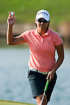 TAOYUAN, TAIWAN - OCTOBER 22: Yani Tseng of Taiwan acknowledges the crowd on the 12th green during day three of the LPGA Imperial Springs Taiwan Championship at Sunrise Golf Course on October 22, 2011 in Taoyuan, Taiwan. Photo by Victor Fraile / The Power of Sport Images