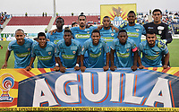 MONTERÍA - COLOMBIA ,30-01-2019:Formación de Jaguares de Córdoba ante el Deportivo Cali durante partido por la fecha 2 de la Liga Águila I 2019 jugado en el estadio Municipal Jaraguay de Montería . / Team of Jaguares of Cordoba agaisnt  of Deportivo Cali  during the match for the date 2 of the Liga Aguila I 2019 played at Municipal Jaraguay Satdium in Monteria City . Photo: VizzorImage / Andrés Felipe López  / Contribuidor.