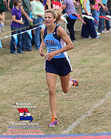 Parkway West junior Maddy Brown takes second in 18:43 in the varsity girls 5k at the 2013 Parkway West Cross Country Invitational.