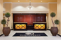 Exquisitely beautiful lobby entrance of the DoubleTree Suites by Hilton Hotel Detroit Downtown - Fort Shelby,
