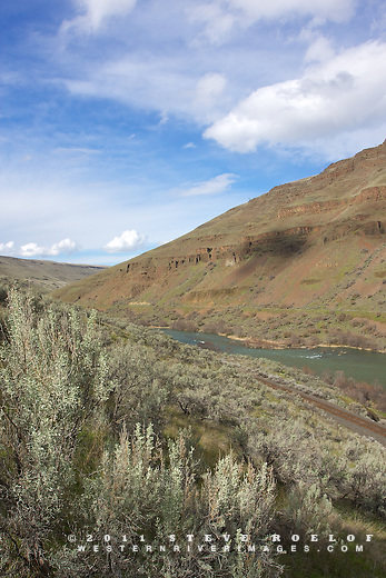 Sage and sky in the lower Deschutes Canyon.