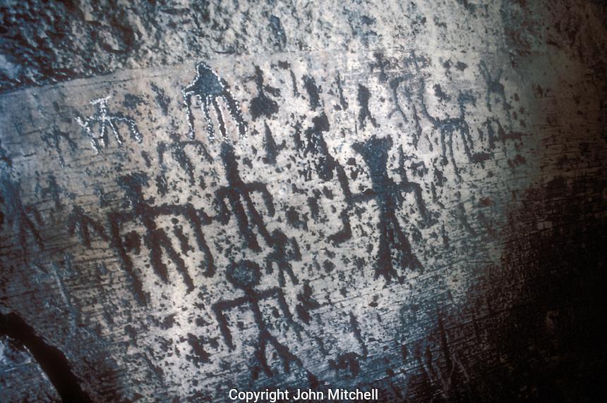 Ancient petroglyphs from Lake Chapala, Regional Museum of Guadalajara, Jalisco, Mexico